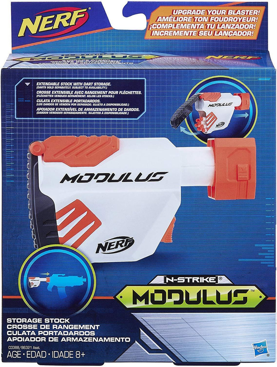 Nerf N-Strike Modulus Storage Stock Extendable Blaster Accessory Hasbro