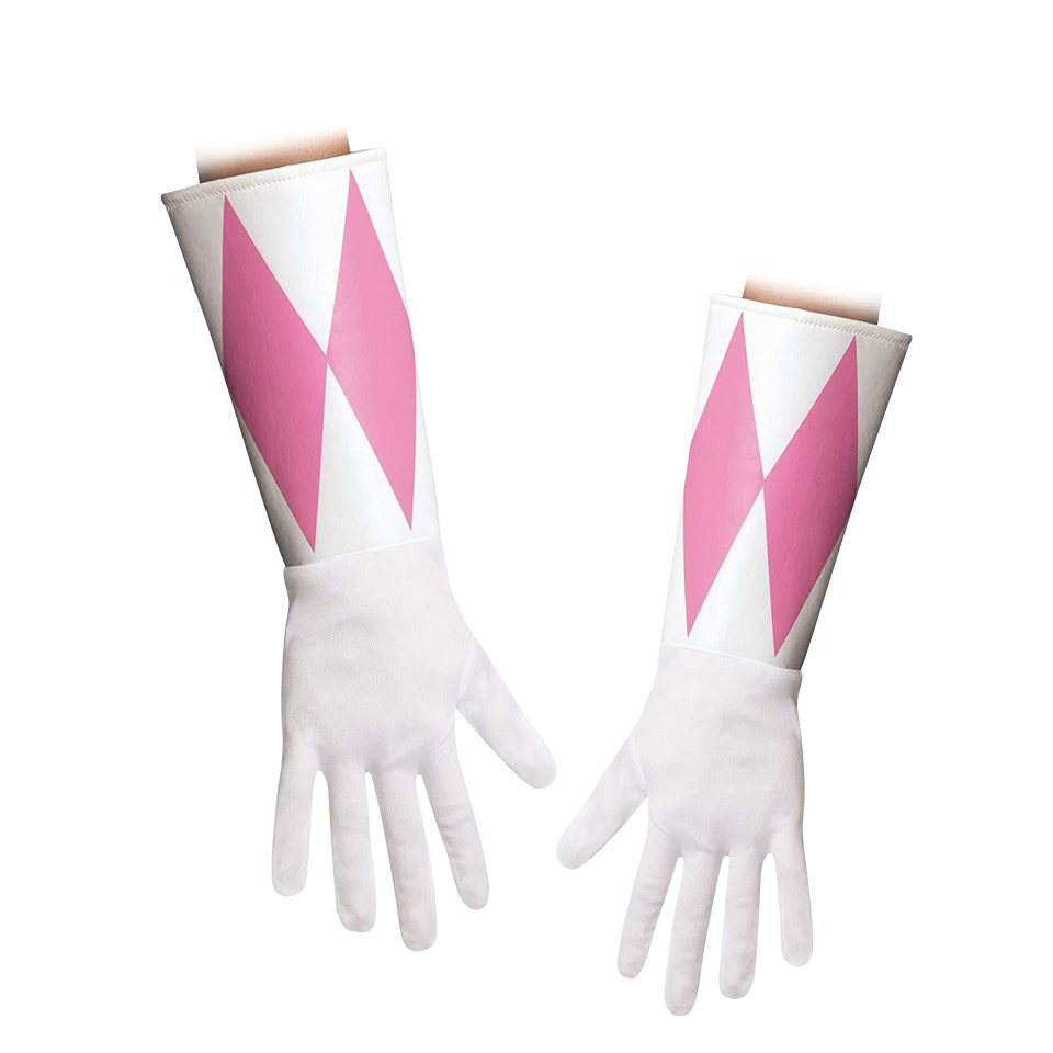 Pink Power Ranger Costume Accessory Kit Mask & Glove Set Disguise