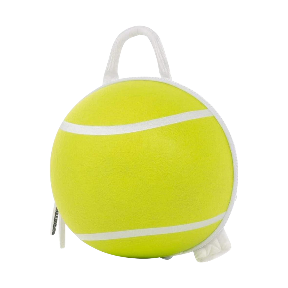 SportPax USA Kids Green Tennis Ball Sport School Backpack Boys Unisex Durable Soft Cleanable Bag Childrens Accessories