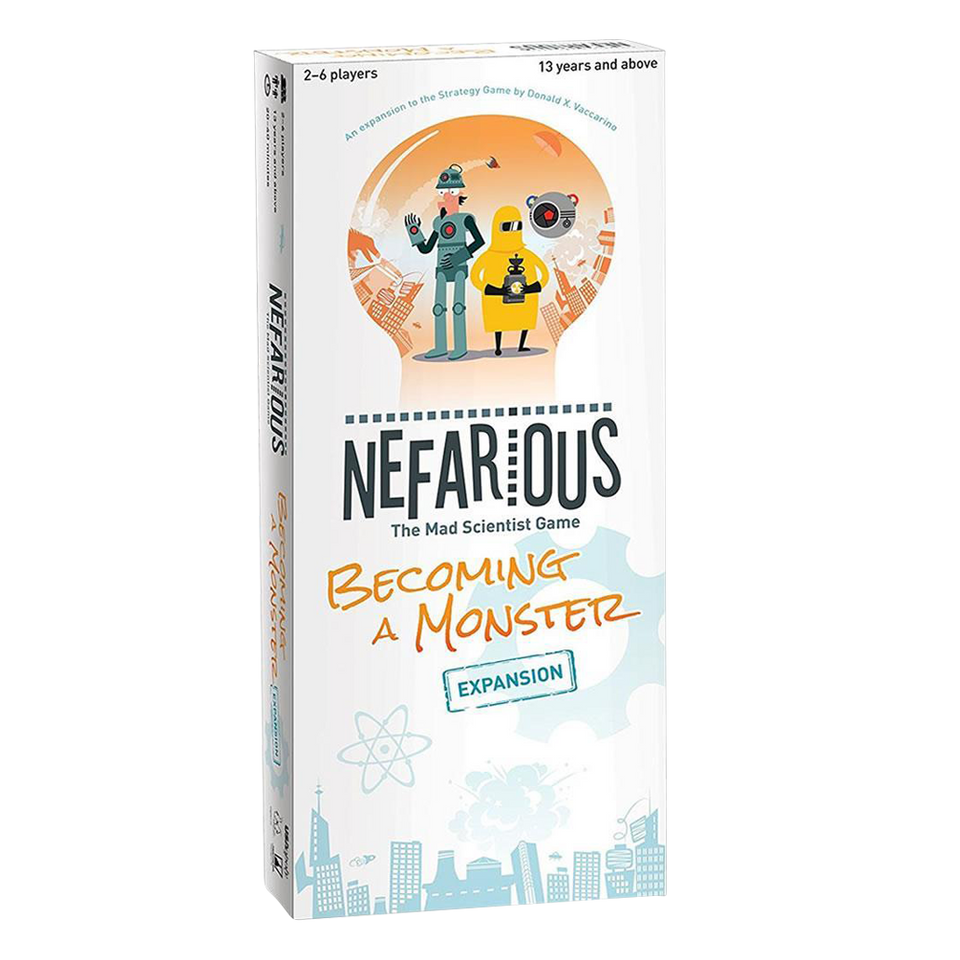 Nefarious The Mad Scientist Game Expansion Pack Becoming a Monster USAopoly NE108-476