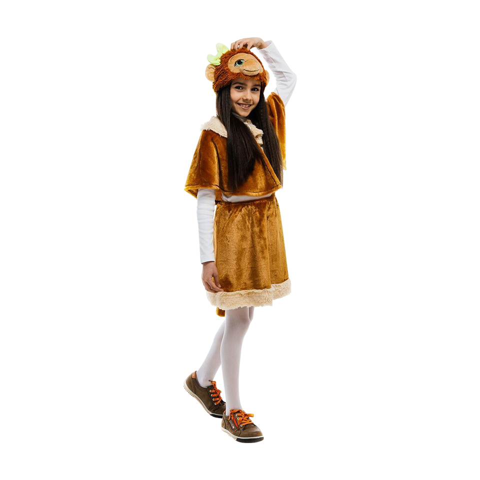 Monkey Jungle Animal Girls Plush Costume Dress-Up Play Kids - X-Small