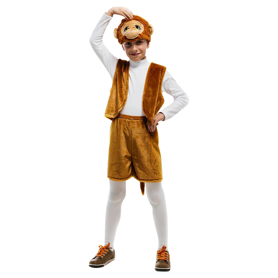 Monkey Jungle Animal size S Boys Plush Costume Dress-Up Play Kids 5 O'Reet