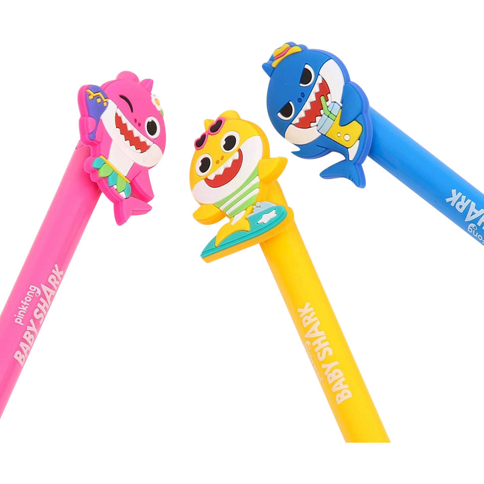 Pinkfong Baby Shark Official Gel Pen Set 4-Pack Offically Licensed Gift
