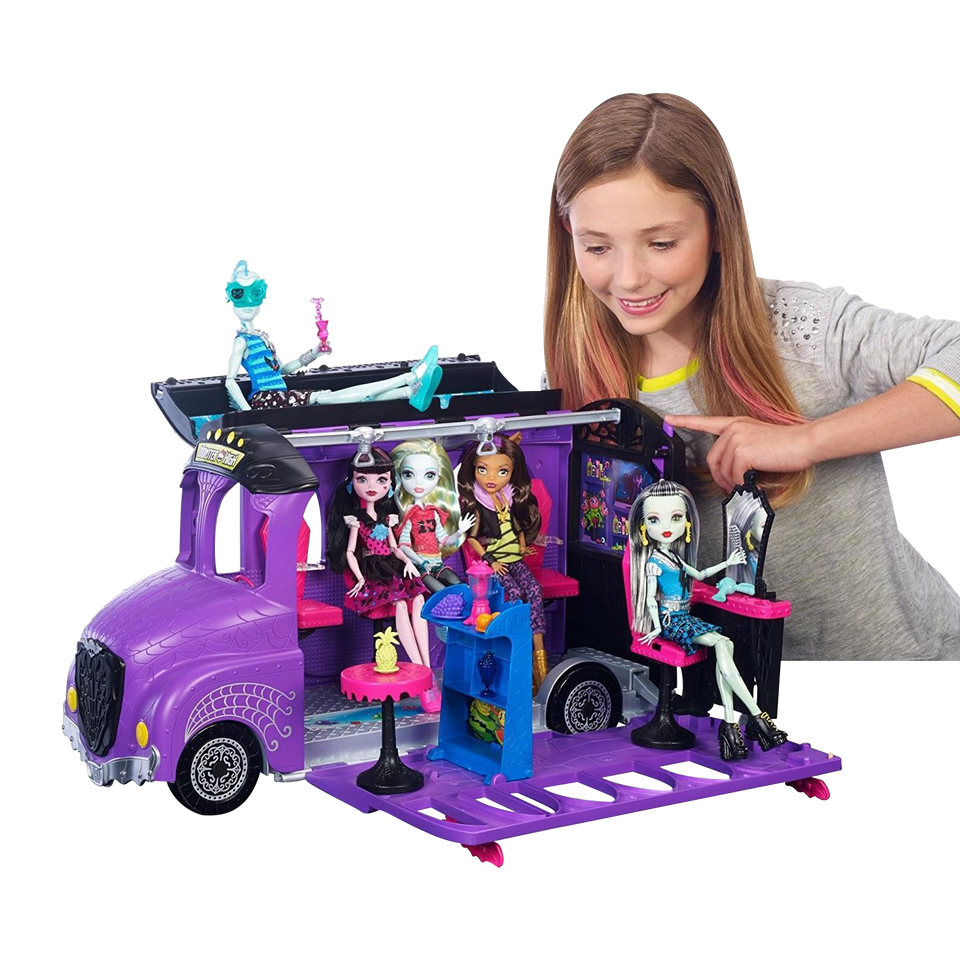 Monster High Deluxe School Bus & Spa Playset Mattel