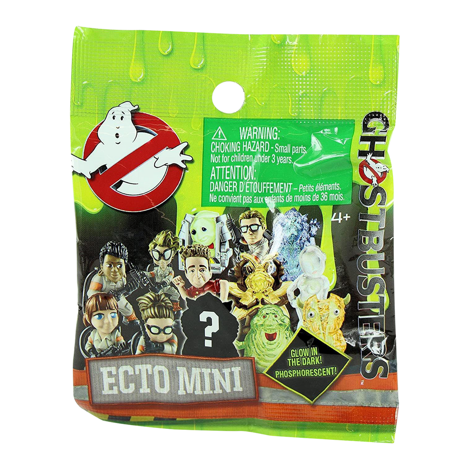 Ghostbusters Ecto Minis Blind Bags 10-pack Glow in Dark Ghosts Mystery Figures Mattel