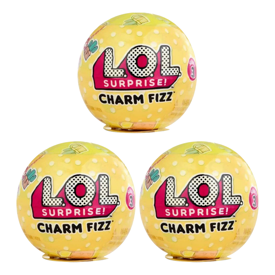LOL Surprise Series 3 Charm Fizz Bath Bomb 3-Pack Mystery MGA