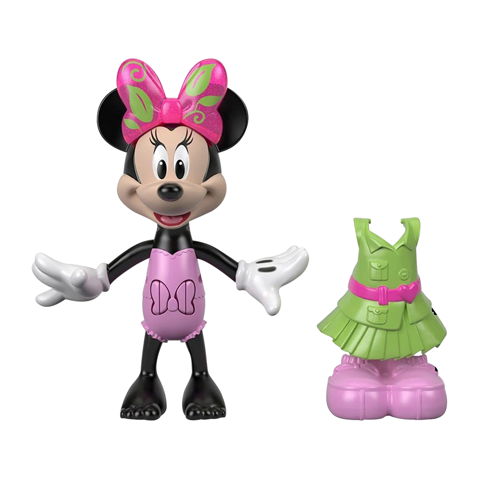Disney Minnie Camping Figure Snap n Pose Fashion Doll Fisher-Price
