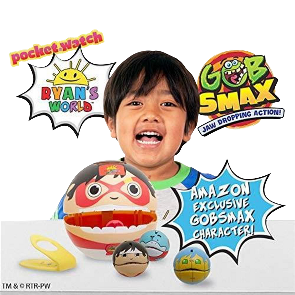 Ryan's World Big Mouth Carry Case & Gobsmax Interactive Family-Friendly Fun