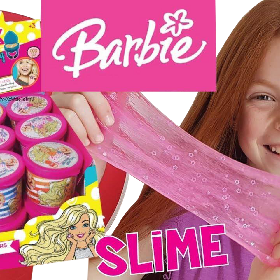 Barbie Putty Slime 3-Pack Magic Glitter Ring