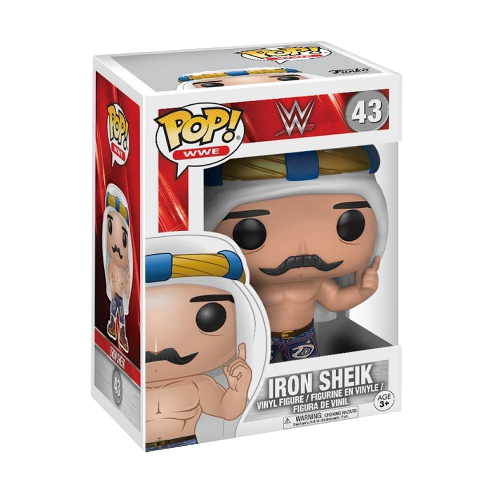 WWE Iron Sheik Figure Old School Vinyl Bobble Head Superstar