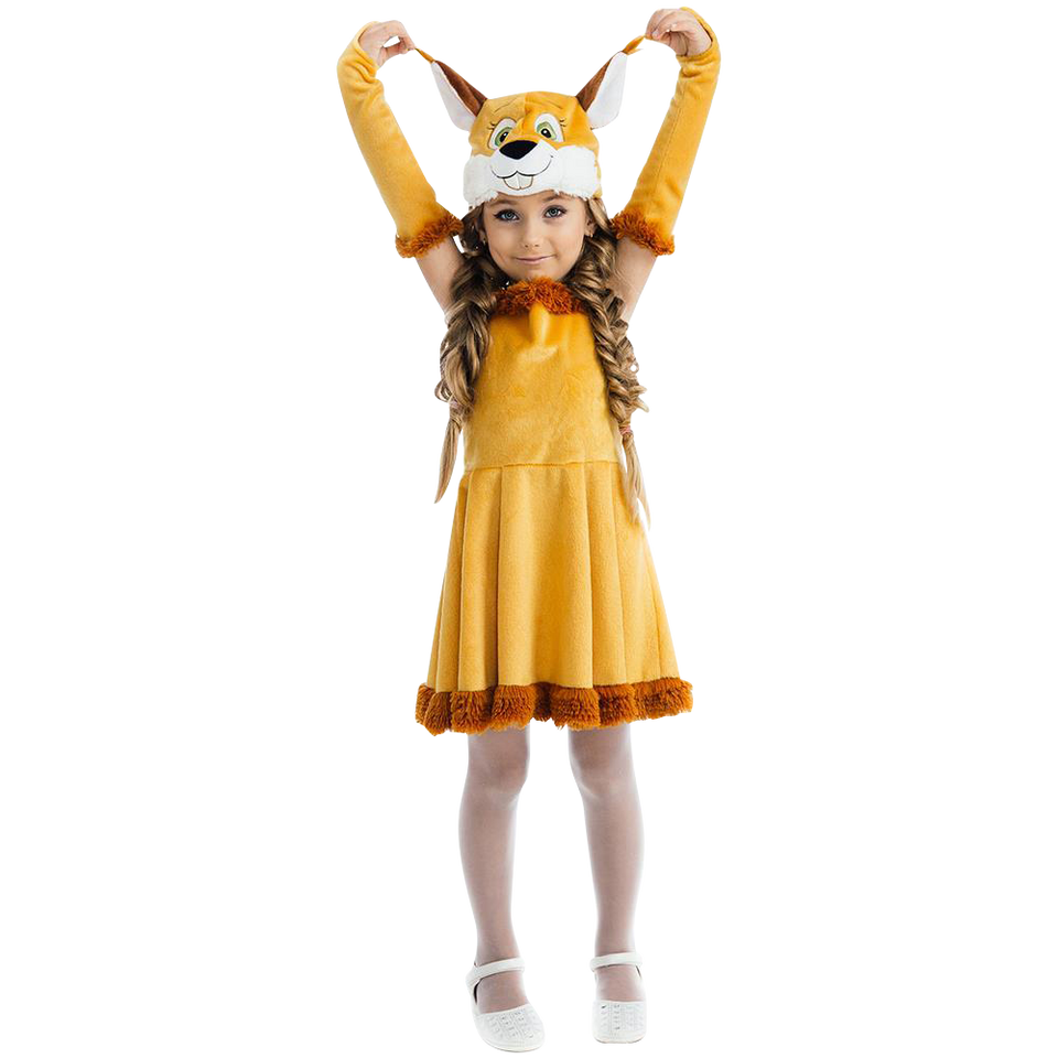 Fairy Tail Squirrel Nutty Chipmunk Girls Plush Costume Dress-Up Play Kids - Small