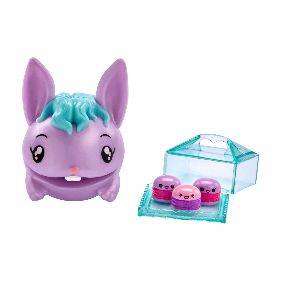 Pooparoos Purple Bunny Figure Teal Hair Surpriseroos