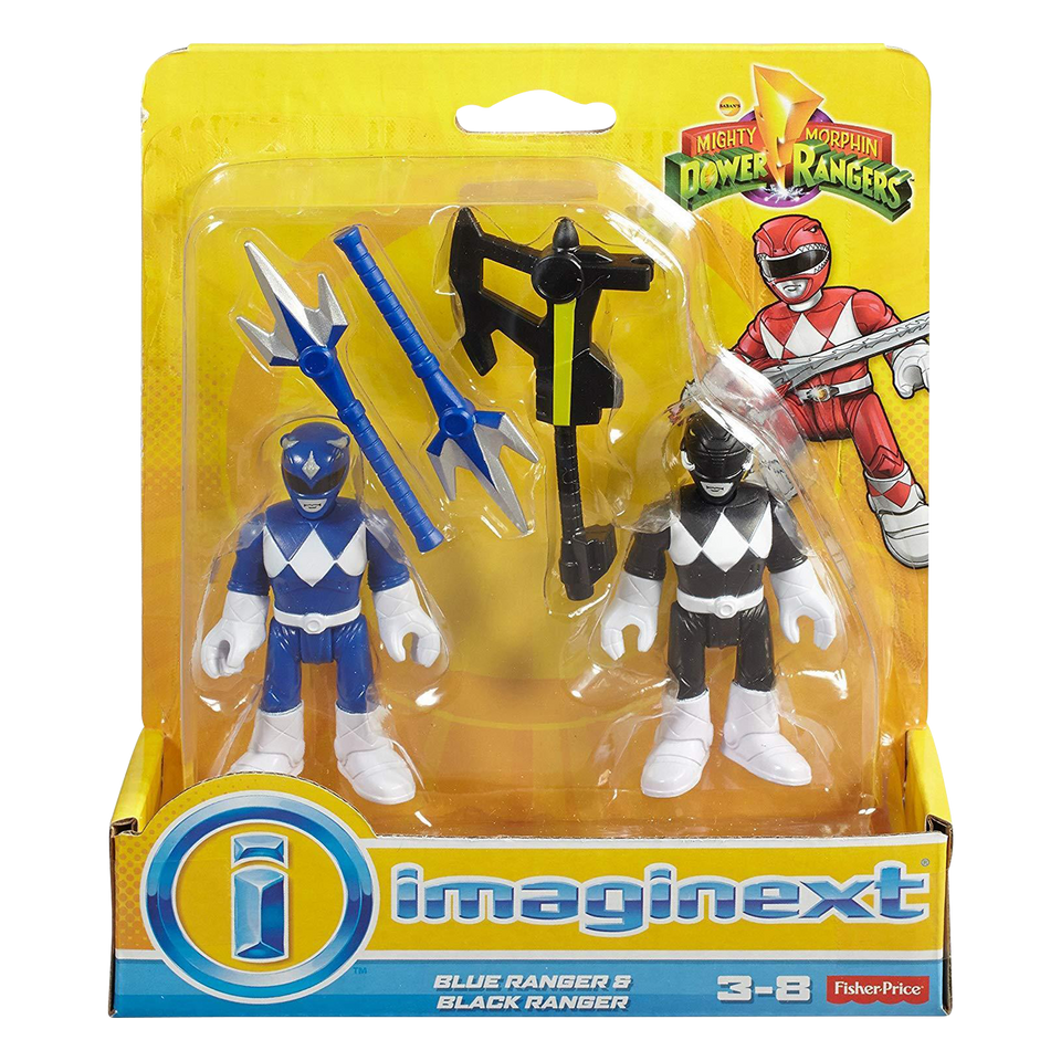Mighty Morphin Figures Imaginext Blue & Black Power Rangers