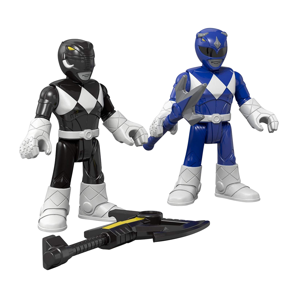 Fisher-Price Mighty Morphin Figures Imaginext Blue & Black Power Rangers