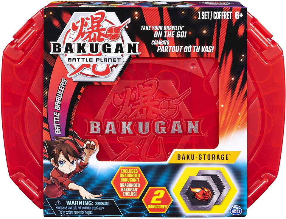 Bakugan Battle Planet Baku Storage Case Red Container BakuCores Spin Master