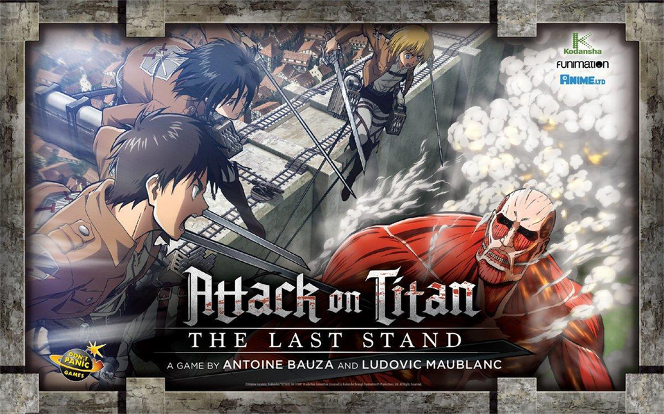 Cryptozoic Entertainment  Attack on Titan: The Last Stand Game Vertical Board Card Battle