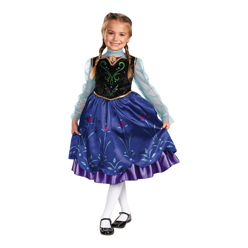 Disguise Disney's Frozen Anna Deluxe Girls size M 7/8 Licensed Costume