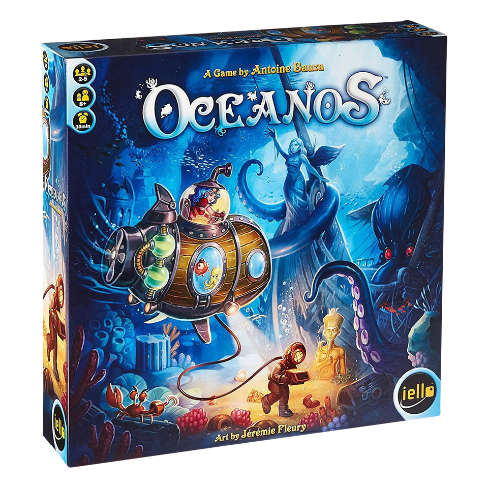 Oceanos Board Game Pilot your Submarine Explore Underwater Animals Species IELLO 51301