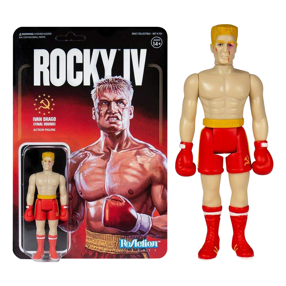 Ivan Drago Final Round Red Rocky IV Boxing Reaction Action Figure - Articulated (Retro)