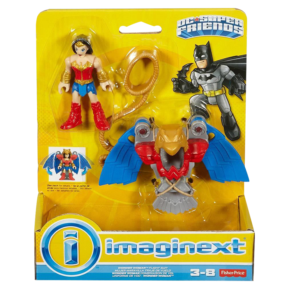 Imaginext Wonder Woman w/Flight Suit DC Super Friends Figures Toy