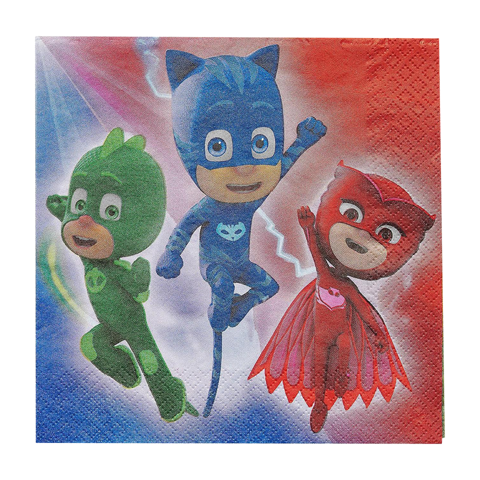 PJ Masks Lunch Napkins 16-Piece Kids Party Decorations DesignWare Amscan