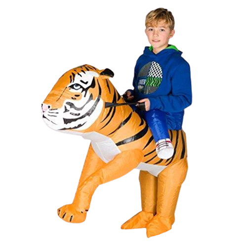 Tiger Inflatable Kids Jungle Animal Costume - O/S