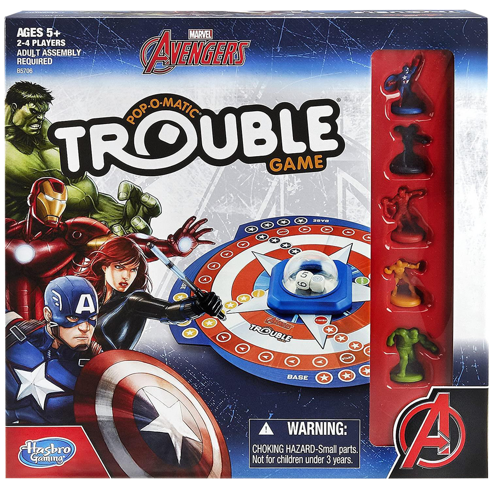Trouble Marvel Avengers Edition Pop-O-Matic Game Hasbro