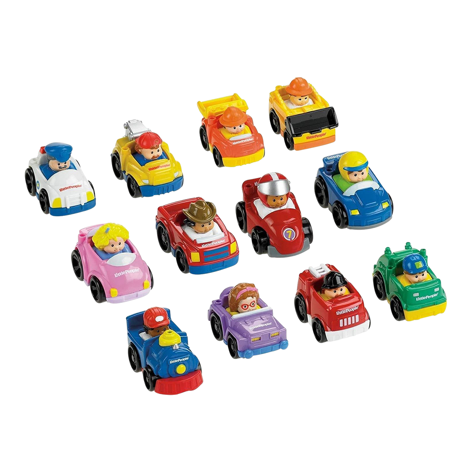 Little People Wheelies Vehicles Blind Bundle 6-Pack Mystery Fisher-Price
