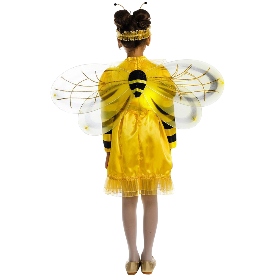 5 O'Reet Bumblebee Bee Girls Animal Costume Dress-Up Play Kids - Size Medium