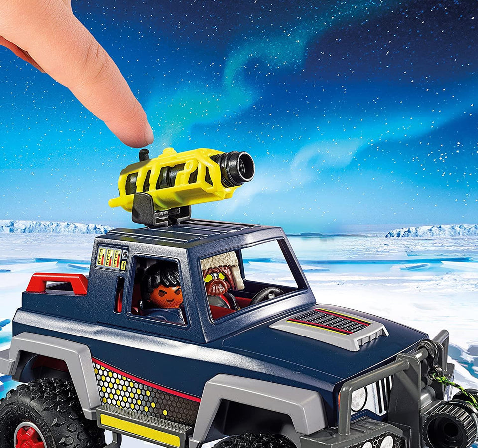 Ice Pirates with Snow Truck 50pc Action Jeep Harpoon Vehicle