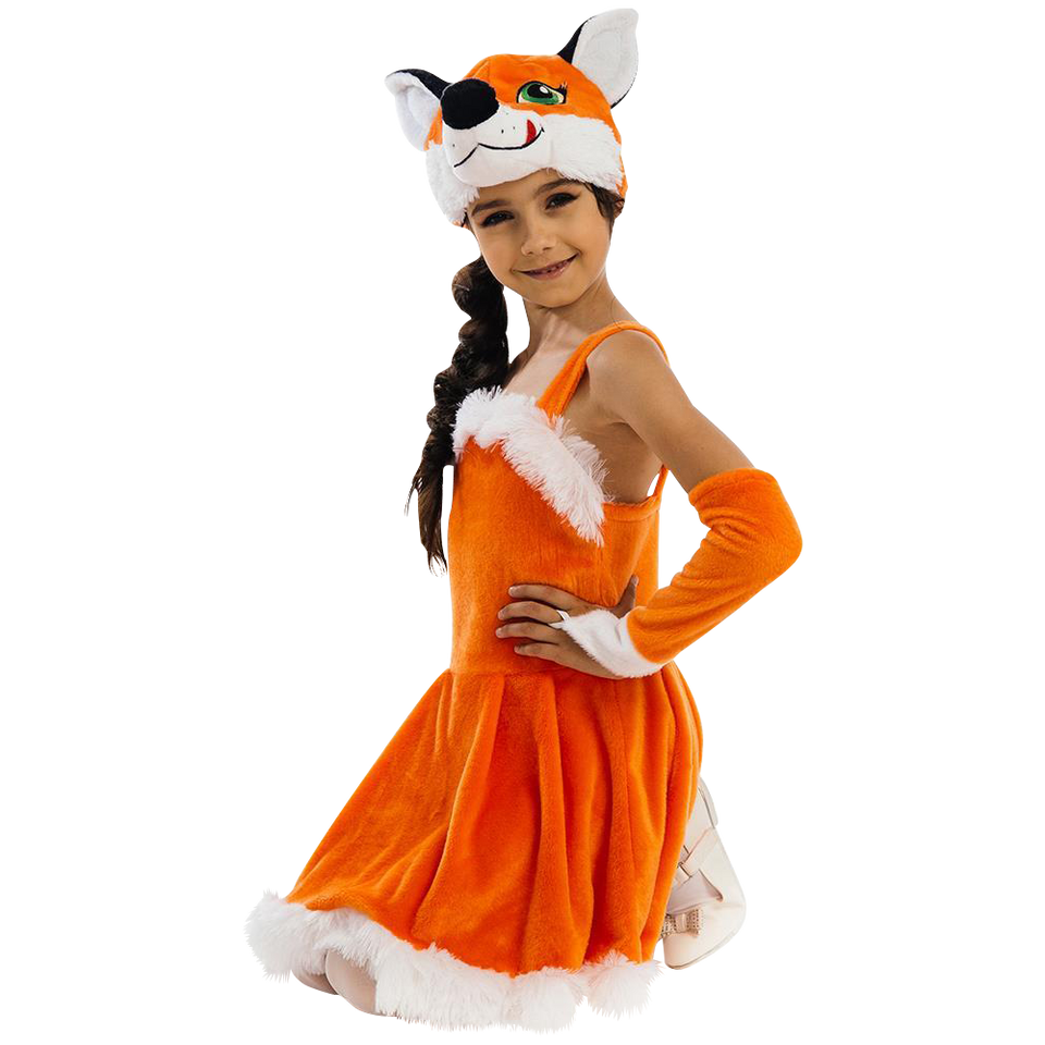 Foxy Fox Dress size S Girls Plush Costume Orange Carnival Dress-Up Play