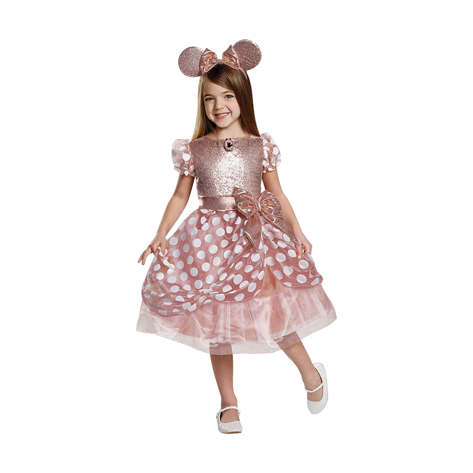 Disney Rose Gold Minnie Mouse Deluxe Girls Costume Licensed - Small (4/6)