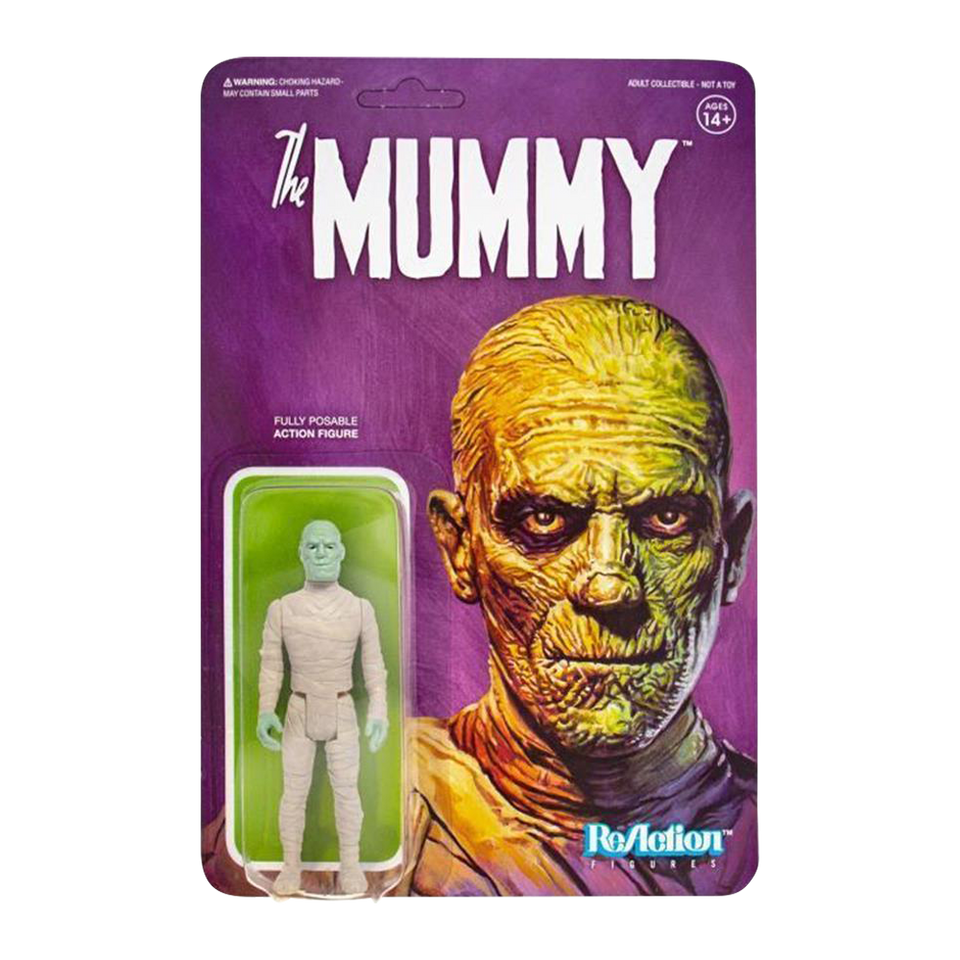 Universal Monsters The Mummy 3 Plastic Retro Design Reaction Figure Super7