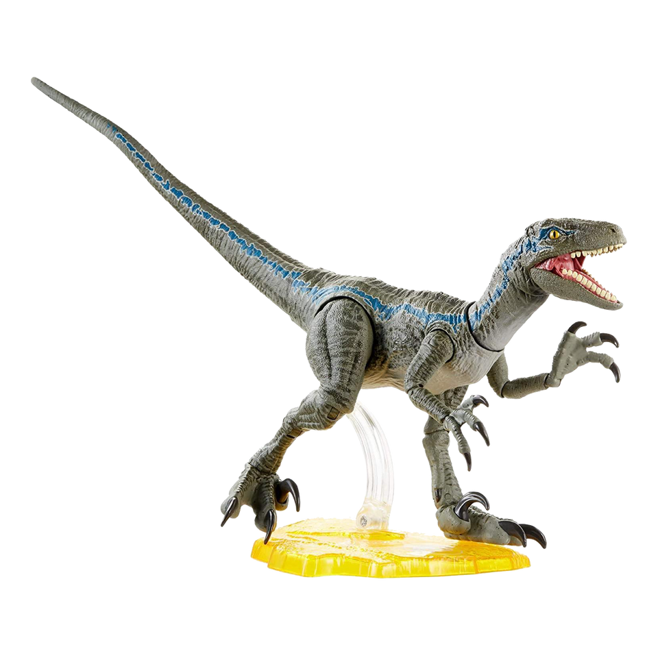 Jurassic World Velociraptor Blue Action Figure Dinosaur Toy Mattel