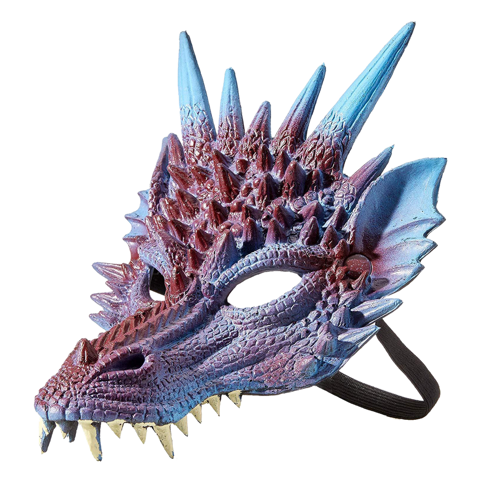 Mythical Purple Dragon Mask Supersoft Adult Costume Accessory HMS
