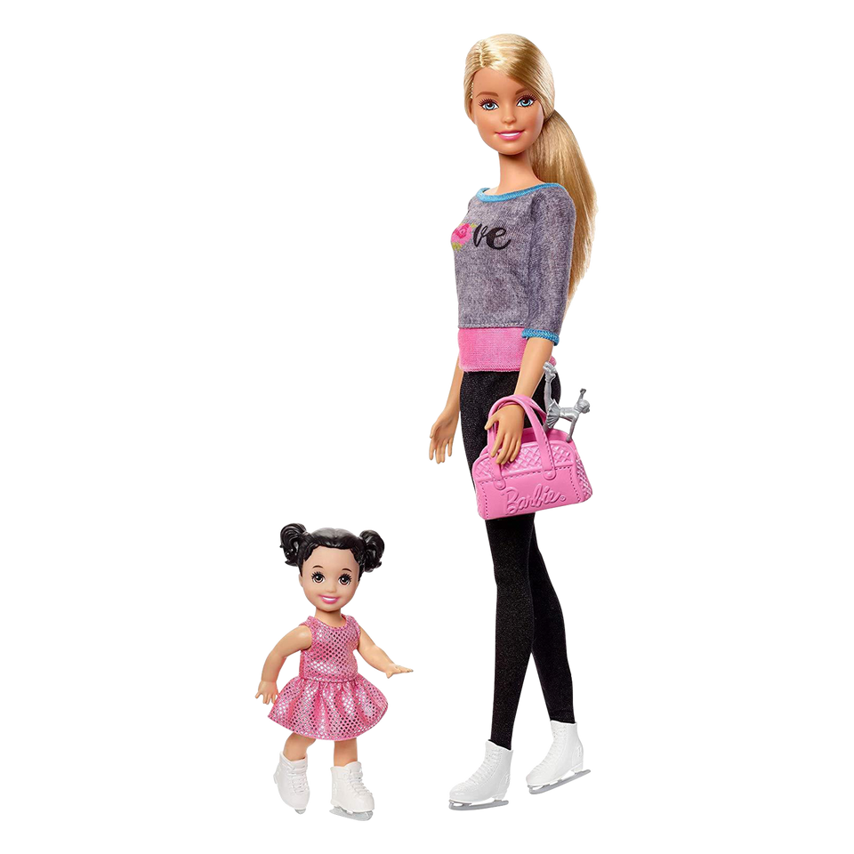 Mattel Barbie Ice Skating Coach Doll & Playset Sport Athlete