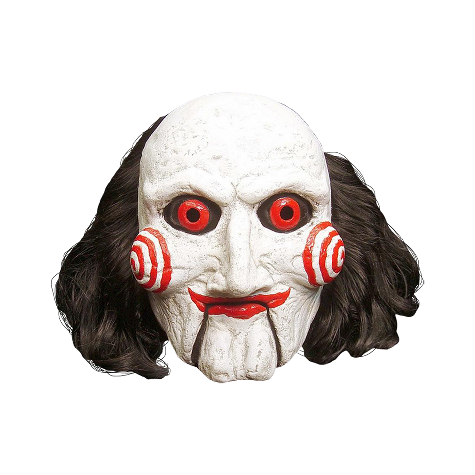 Saw Movie Billy Puppet Mask Creepy Officially Licensed Costume Accessory Trick Or Treat Studios