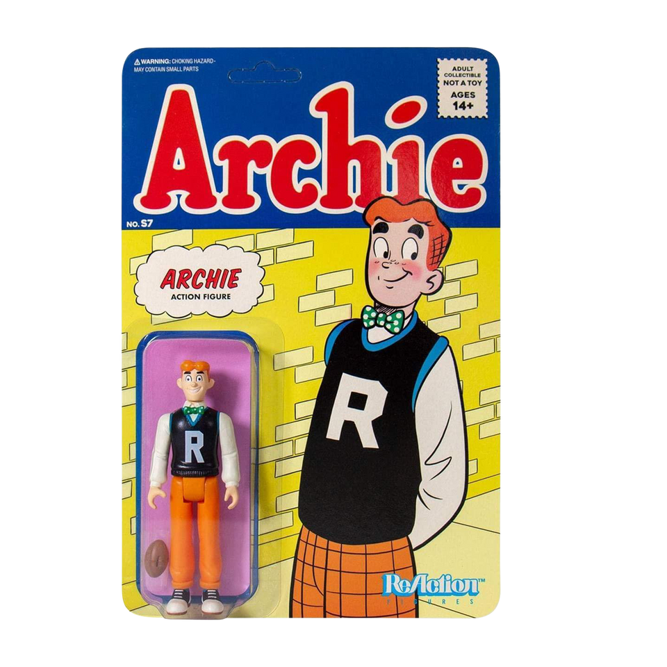 Archie Reaction Action Figure Plastic Classic Comic Retro Design Super7