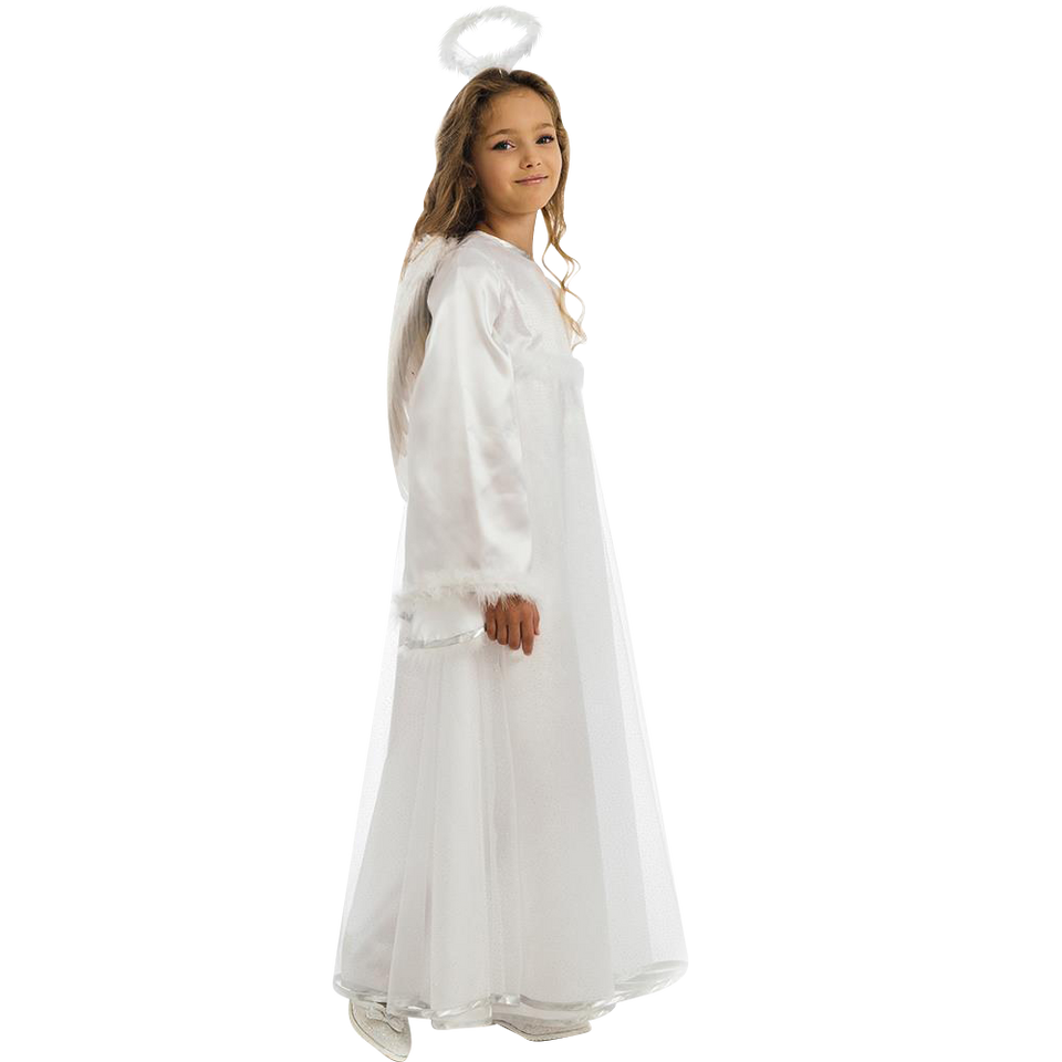Heavenly Little Angel Girls Biblical Costume Dress-Up Play Kids - Medium