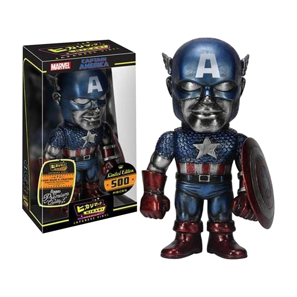 Marvel Hikari Titanium Captain America Vinyl Figure Limited Edition Blue