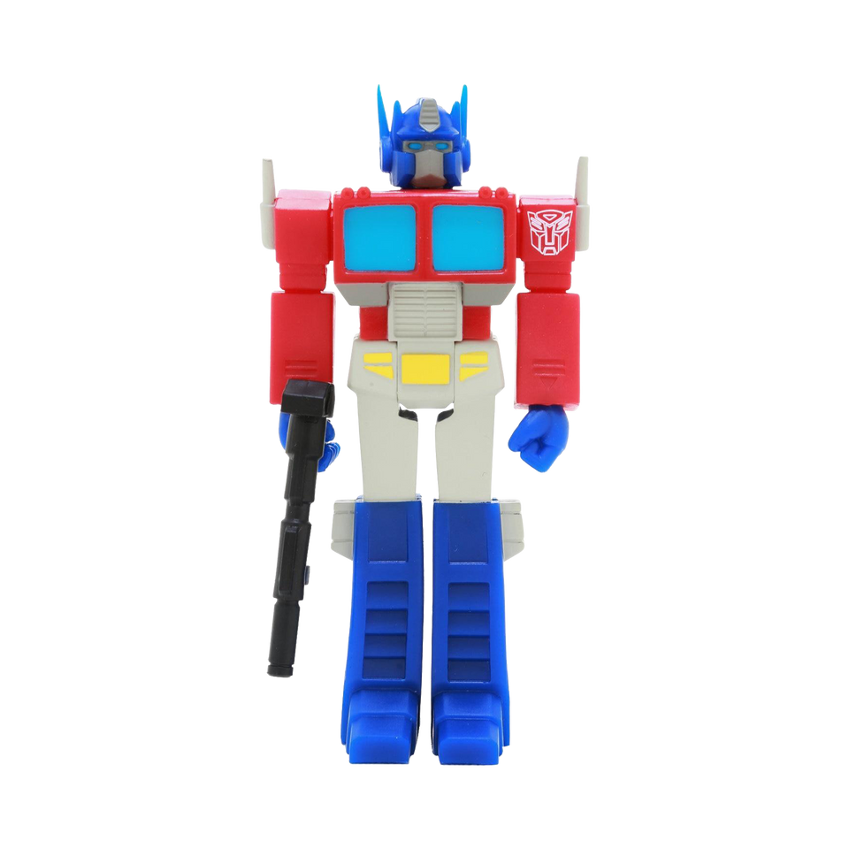 Transformers Optimus Prime Reaction Collectible Figure - Articulated (Retro)