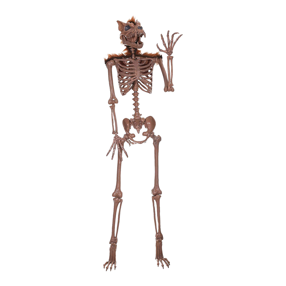 Crazy Bonez Pose-N-Stay Werewolf Skeleton Halloween Scary Decoration