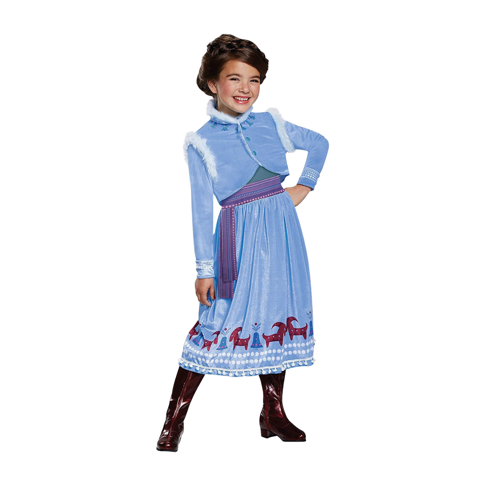 Frozen Anna Adventure Deluxe Girls Disney Licensed Costume - XS (3T/4T)
