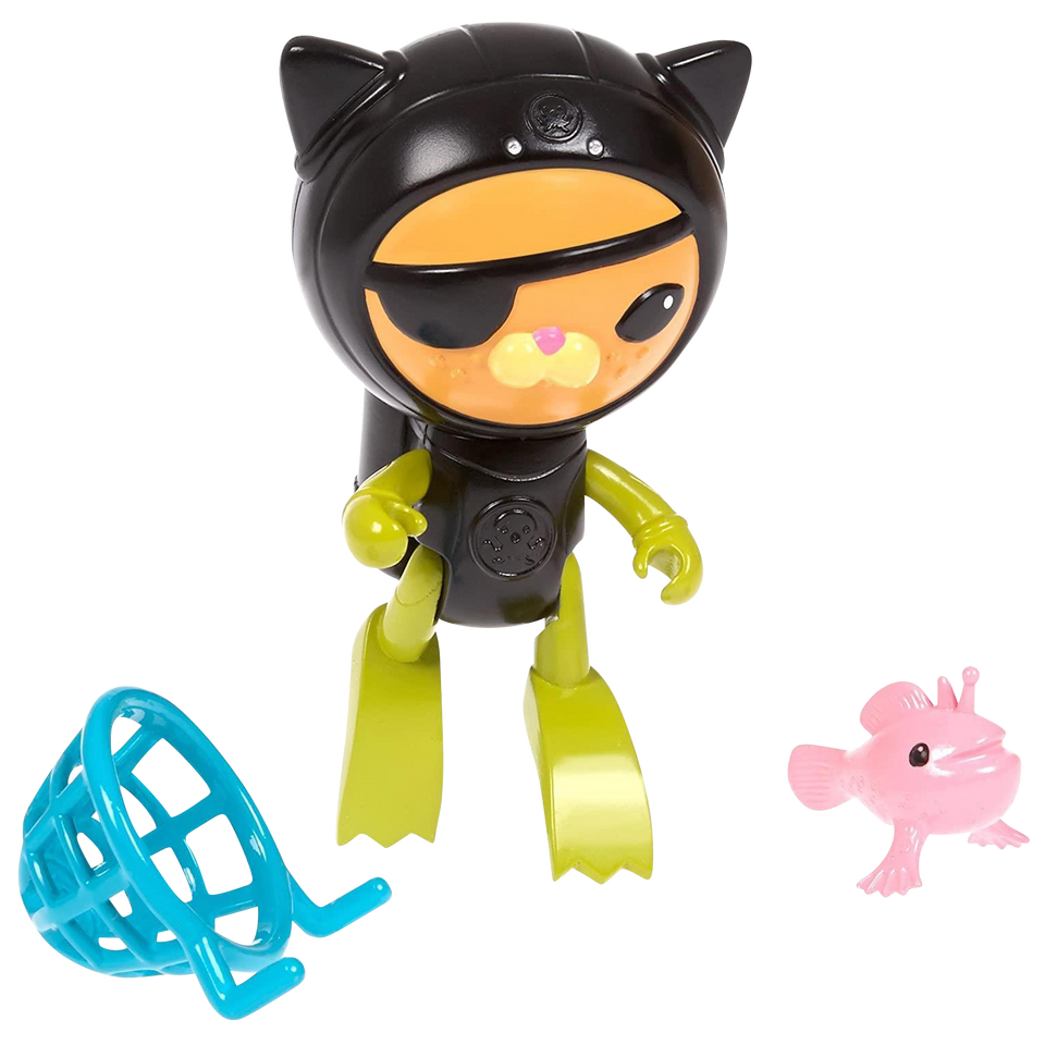 Octonauts Swimming Kwazii & The Frogfish Water Toy Collectable Fisher-Price