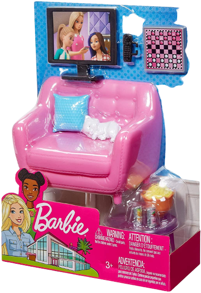 Barbie Indoor Living Room Furniture Set Doll Playset