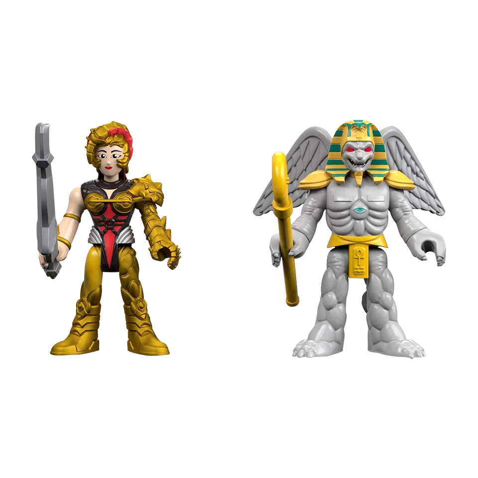 Fisher-Price Imaginext Mighty Morphin Power Rangers King Sphinx & Scorpina Figures