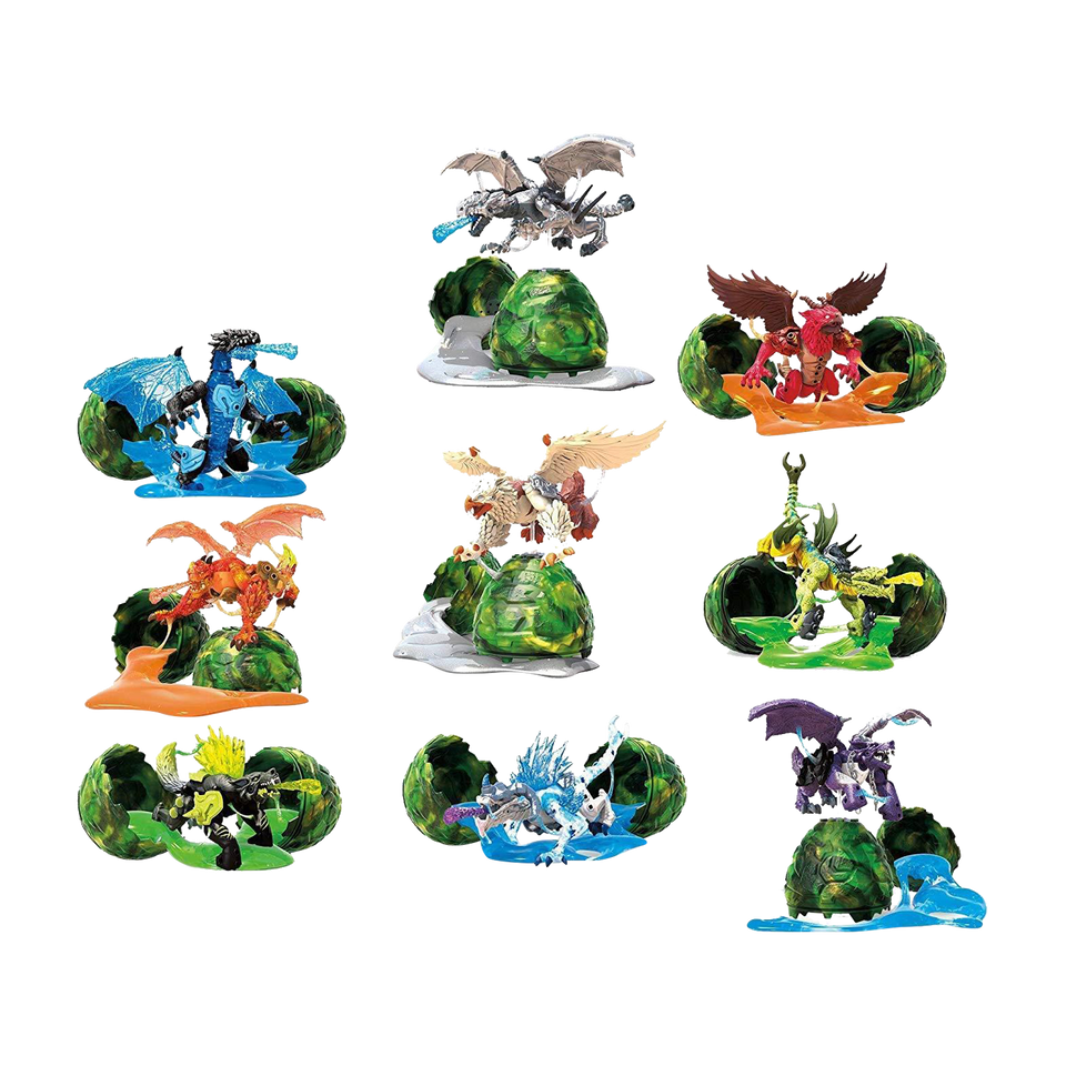 Mattel Jurassic World Mini Dino Dinosaurs Assorted Figures in Blind Bags (3-Pack )