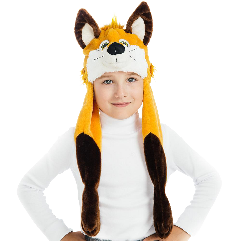 Foxy Fox Plush Headpiece Kids Costume Dress-Up Play Accessory 5 O'Reet