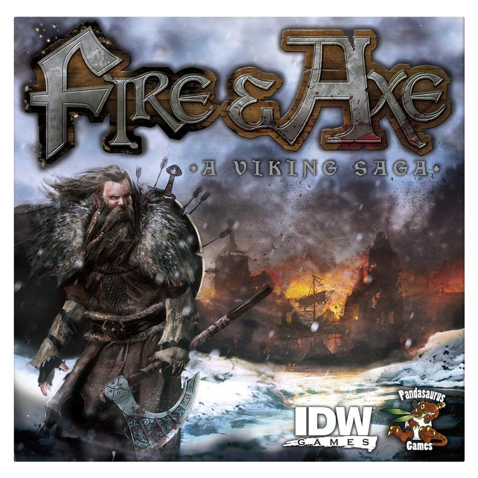 Fire and Axe: A Viking Saga Board Game Power & Glory Conquer Europe IDW Games 850IDW