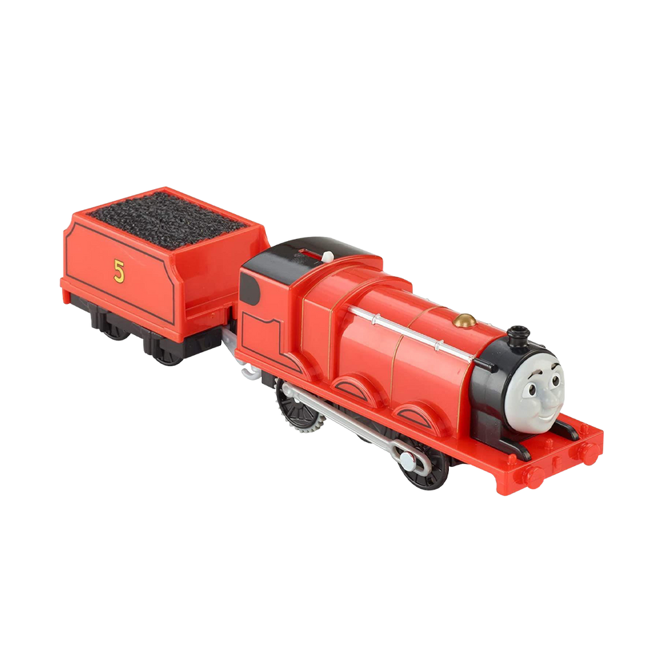 Thomas & Friends James Motorized Engine TrackMaster Train Toy Fisher-Price